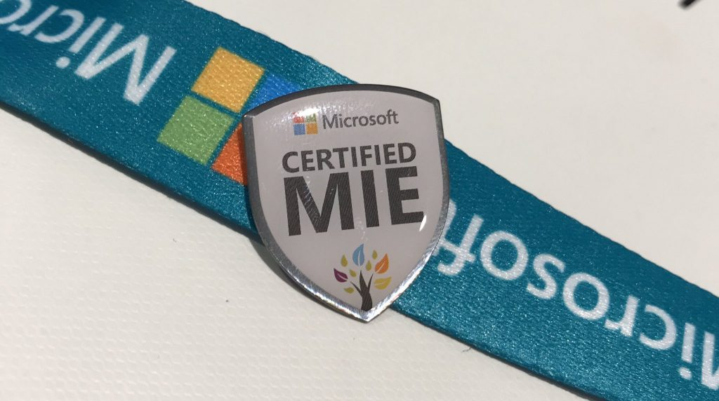 Microsoft Certified MIE pin badge