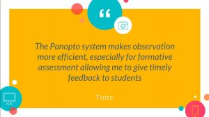 Tutor quote from Panopto presentation